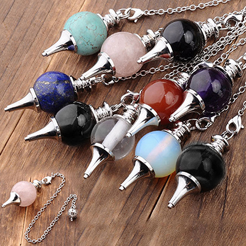 1pc artificial stone pendulum dowsing chakra healing scrying dowser 1pc artificial stone pendulum dowsing chakra healing scrying dowser pendant in charms from jewelry accessories on aliexpress alibaba group aloadofball Image collections