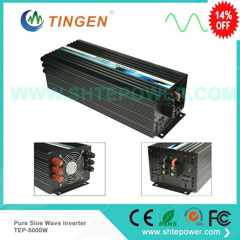 TEP-5000W inverters 48v 220v 5kw 5000w 12v 24v pure sine wave free shipping TNT DHL home system use 50 60hz 48v dc sine wave inverters 6000w