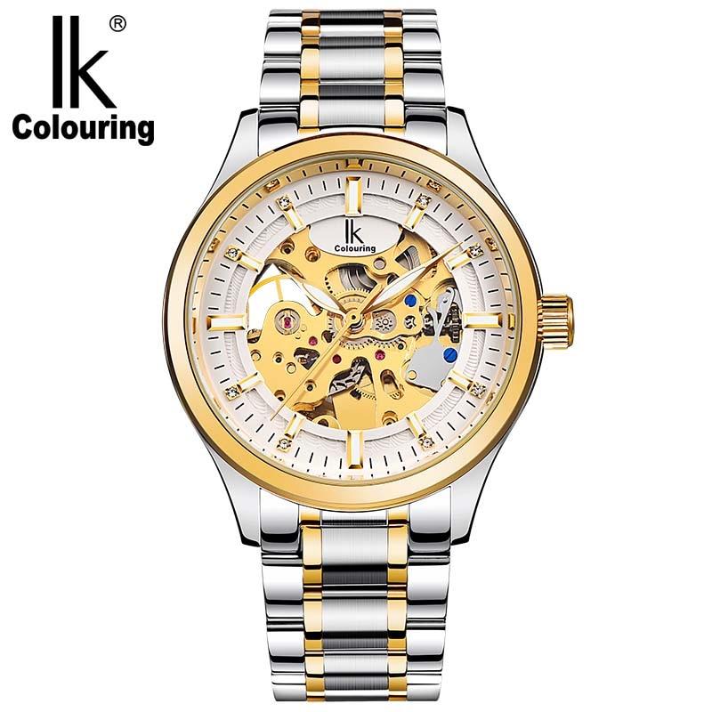 IK New Luxury Casual Clock Men Automatic Watch Skeleton Business Watch Mechanical Watch цены