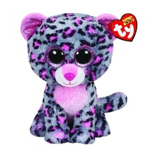 Ty Beanie Boos Stuffed Plush Animals Gray Purple Leopard Toy Doll With Tag 6 15cm