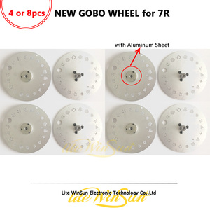 Image 1 - Litewinsune 4/8PCS FREE SHIP Easy Replace Whole Set Gobo Wheel for Beam R7 Moving Head Stage Lighting Parts