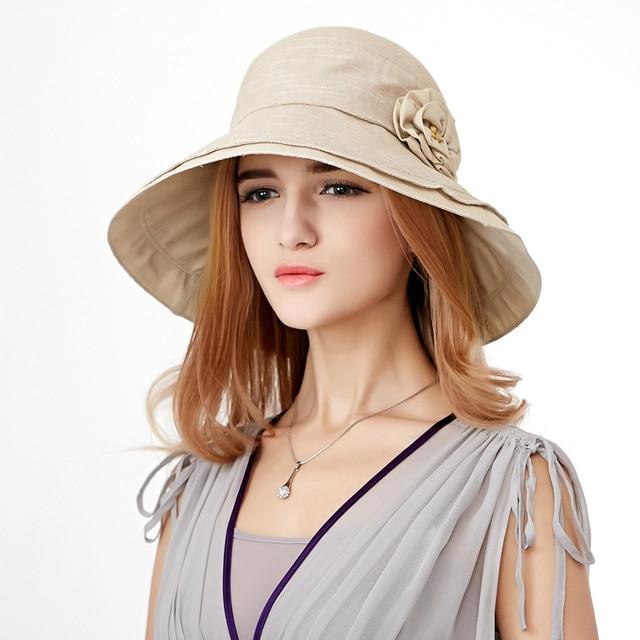 2016 fashion hot women solid caps summer bow adjustable cotton romantic sun hats