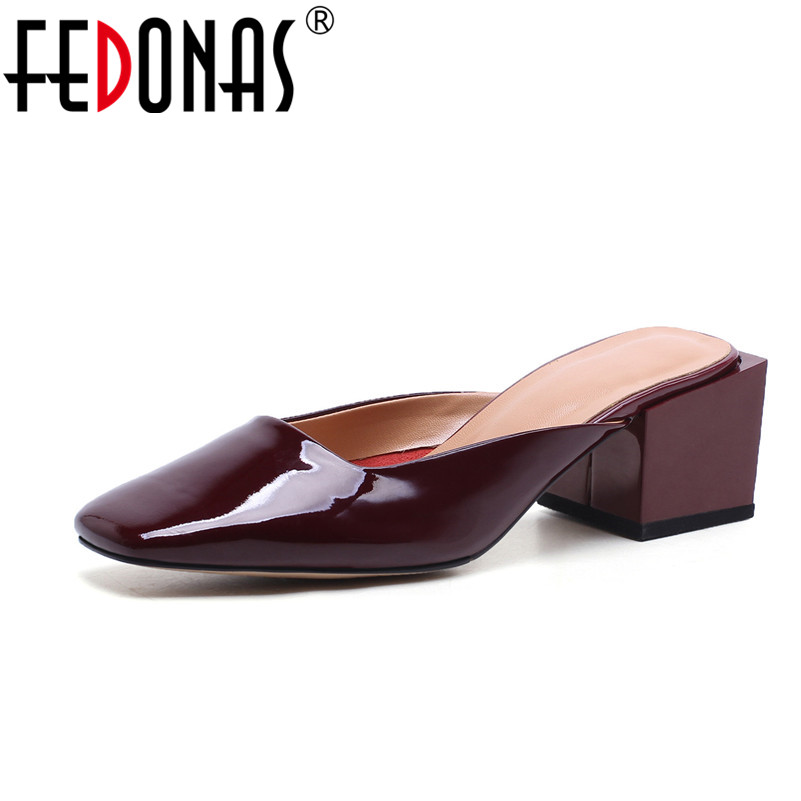 FEDONAS Summer Sandals Sexy Women High Heels Genuine Leather Shoes Fashion Platform Casual Comfort Slippers Women Sandals donna in 2018 women genuine leather slipper platform high heels sandals ladies shoes thick heel casual slippers fashion styles
