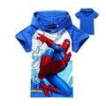 Новые мальчики футболка девушки топ футболки для детей детская человек-паук лето мультфильм детей футболки мальчик одежда горячая продажа