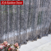 Home Decor Sheer Curtains and Tulle Curtains For Living Room Bedroom Door Kitchen Curtains For Window Children Voile Drapes|Curtains|Home & Garden -