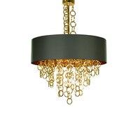 Новый дизайн современный высокого качества из металла подвесной светильник светодио дный лампа золотая цепочка с абажуром падения света д