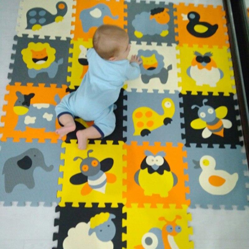 18 pcs Ensemble EVA Enfants jouets puzzle de pad de bande dessinée étanche couverture puzzle sport couverture de sol en mousse bébé jeu ramper pad