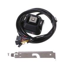 Настольный компьютер ПК корпус питания вкл/выкл кнопка сброса удлинитель с переключателем кабеля