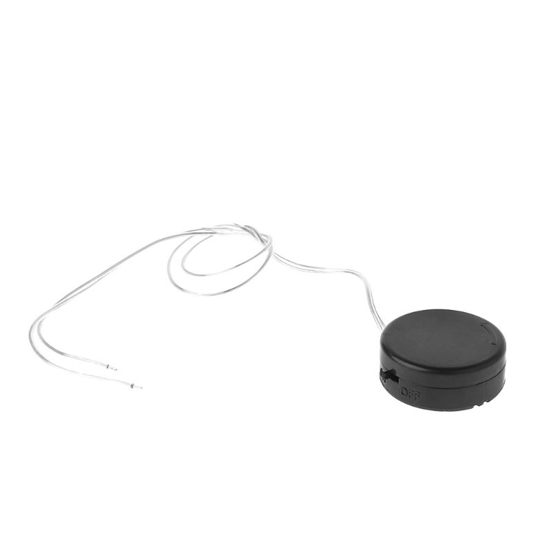 2020 New 2Pcs 2 x <font><b>CR2032</b></font> Round Coin Button Cell <font><b>Battery</b></font> <font><b>Holder</b></font> Storage Box Mini Adapter <font><b>With</b></font> <font><b>Wire</b></font> ON/OFF Switch Leads image