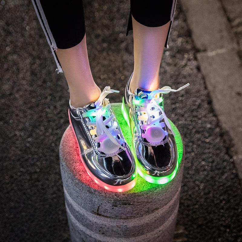 10ec156c20 US $24.28 53% OFF|New Led Lights Shoes Usb Charging Colorful Glowing Casual  Flat Shoes Women Students Tik Tok Dancing Shoes Couple Sneakers Shoes-in ...