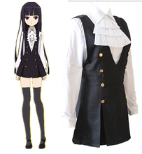 X servant SS honky hospital stern butterfly daily service uniforms Karuta COS cosplay womens clothing blouse+dress 2ps 1set