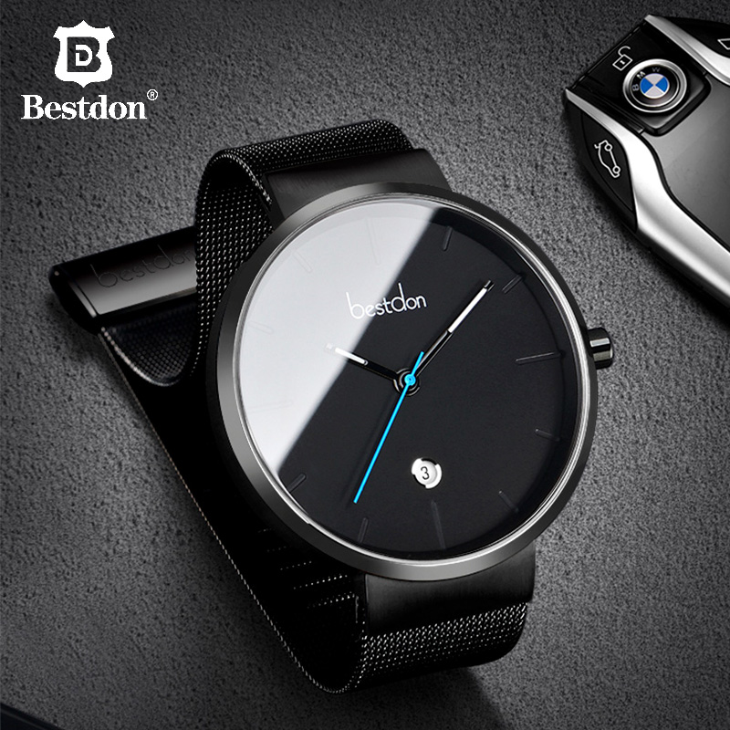 Bestdon Minimalist Mens Watches Luxury Top Brand Fashion Full Steel Watch Waterproof Luminous Wristwatch Switzerland StudentsBestdon Minimalist Mens Watches Luxury Top Brand Fashion Full Steel Watch Waterproof Luminous Wristwatch Switzerland Students