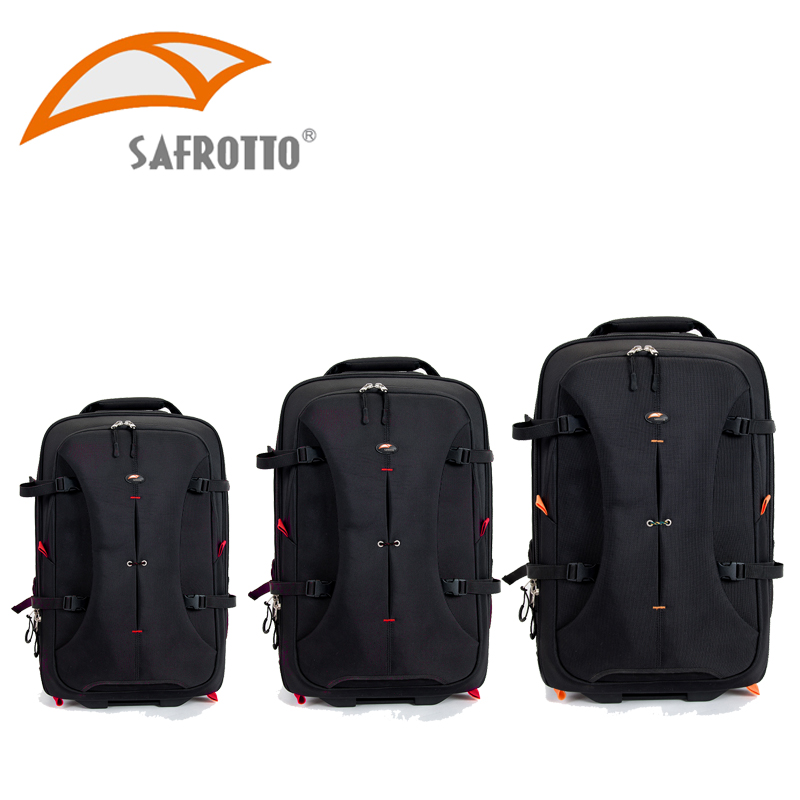 Safrotto High Quality Photographic Outdoor Travel Waterproof Large Trolley Case Bag Casual Shockproof DSLR Camera Black Backpack