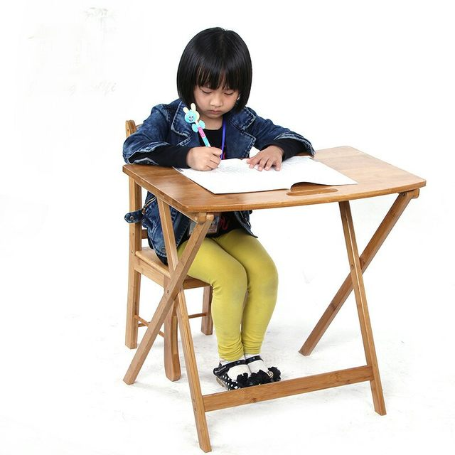 Children Tables Children Furniture Furniture Bamboo Folding Students Study  Table Can Customize 66*41*61 Cm Hot New 2016 Cheap