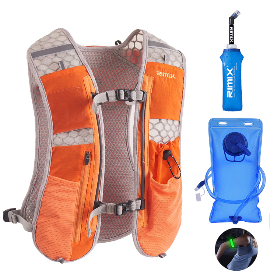 Trail Running Backpack Hydration Lightweight Marathon Backpack Outdoor Sports 5.5L Bag Racing Hiking Fitness Hydration Vest Pack