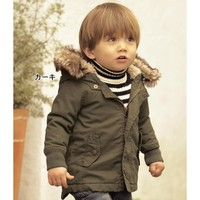 SY050 Free Shipping Hot Sale Winter Fashion New Style Boy Hoody Coat Kids Thick Cotton Jacket