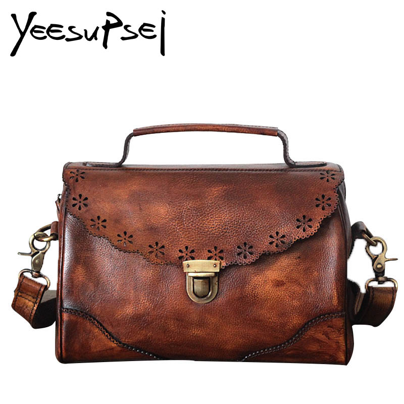YeeSupSei Genuine Leather Boston Women Handbag Vintage Luxury Shoulder Bag Clasp Cover  Women Pillow Bag Lady Bolsos Sac A MainYeeSupSei Genuine Leather Boston Women Handbag Vintage Luxury Shoulder Bag Clasp Cover  Women Pillow Bag Lady Bolsos Sac A Main