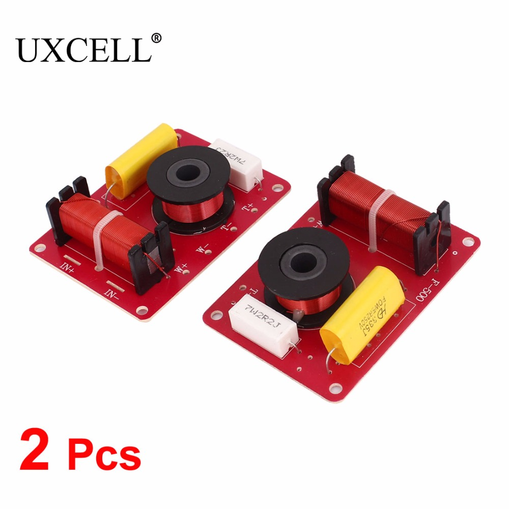 UXCELL 2 Pcs 180W 2-Way Speaker System Audio Crossover Filters Frequency Distributor