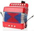 BOHS Botão Acordeão 7 Teclas de Piano Instrumento Musical Brinquedos Grande Presente Crianças