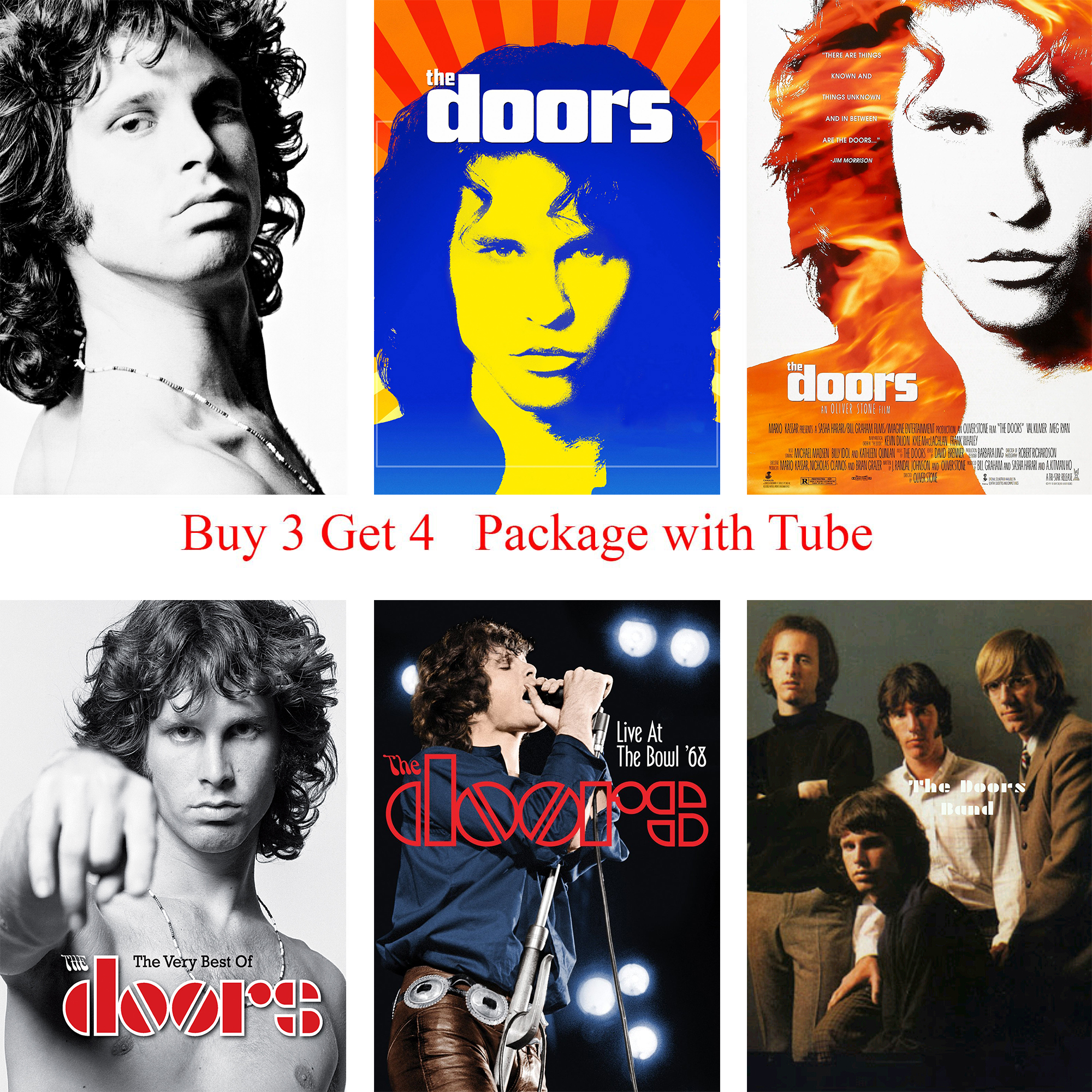 The Doors Jim Morrison Posters Rock Music White Coated Paper Prints Clear Image Home Decoration Livingroom  sc 1 st  AliExpress.com & The Doors Jim Morrison Vintage Retro rock band music Guitar Matte ...