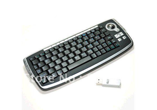 EMS DHL free+10pcs/lot  USB 2.4GHz RF MCE Wireless Programmable Multimedia Keyboard with Trackball Mouse Wireless Keyboard