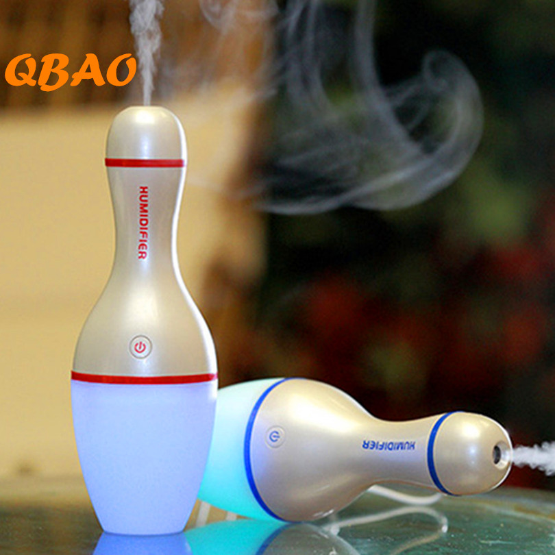 Aroma Air Humidifier USB 5V Bowling Bottle Led Lamp Light Air Diffuser Mist Maker Aromatherapy Ultrasonic Diffuse for SPA Home