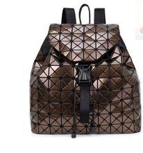 HXXW Женщины рюкзак 2016 геометрические лоскутное решетки алмаза рюкзак известный бренд drawstring сумка mochila мешок A026