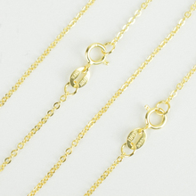 Унисекс, итальянская бижутерия, настоящее 925 пробы, серебро и желтое золото, 1,2 мм/2 мм, цепочка с крестом Rolo, ожерелье для женщин, мужчин, девочек и мальчиков