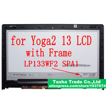 For Yoga 2 13 LCD Touch Digitizer Assembly FHD 1920*1080 B133HAN02.0 LP133WF2 SPA1 For Lenovo Yoga 2 13 LCD Assembly WITH FRAME