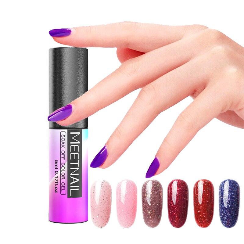 MeetNail Nail Art Set UV LED LAMP Dryer 10 Color 5ml Gel Nail Polish ...