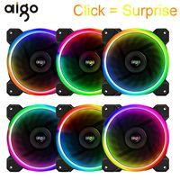 Aigo DR12 PC Cooling Case Fan for Computer 12V Adjustable Led RGB Cooler Fan 120mm Silent Ventilador PC Cooler With IR Remote