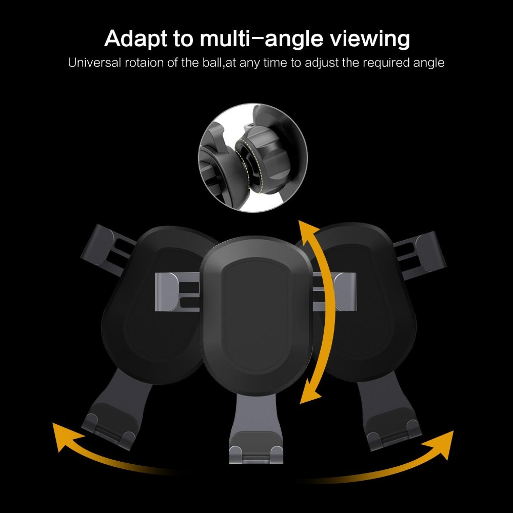 Suntaiho Universal Gravity Car Phone Holder for iPhone 8 7 X Air Vent Mount 360 Degree Stand for Samsung S9 S8 Plus Huawei P20