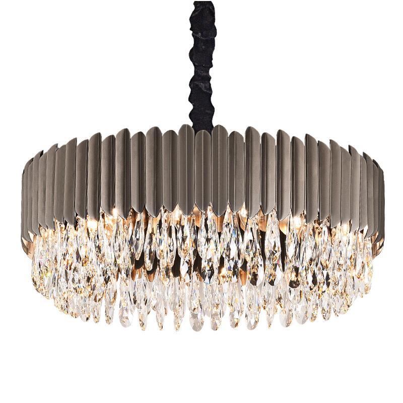 Lustre moderne luxe cristal salon éclairage simple noir salle à manger chambre lampes LED