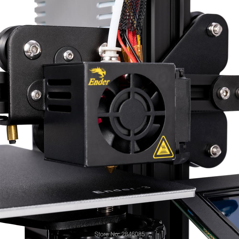 Image 5 - CREALITY 3D Printer Ender 3/Ender 3X Tempered Glass Optional,V slot Resume Power Failure Printing DIY KIT Hotbed-in 3D Printers from Computer & Office
