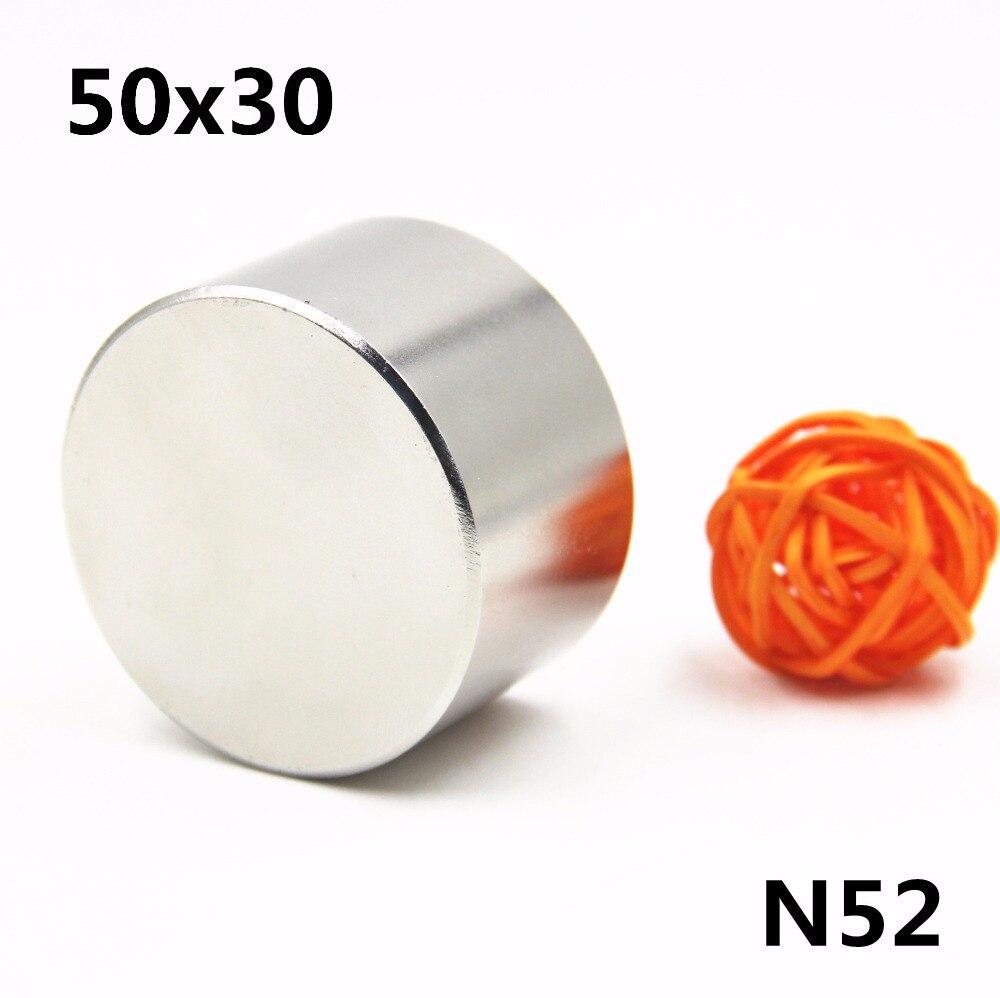 1 stücke Neodym N52 Dia 50mm X 30mm Starken Magneten Tiny Disc NdFeB Rare Earth Für Handwerk Modelle kühlschrank Kleben 50*30mm