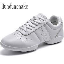 Hundunsnake White Jazz Dance Shoes Platform Women Sneakers Ladies Sport Krasovki Female Gym Gumshoe Trainer Chaussure Femme T156