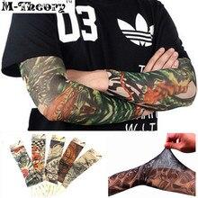 M-theory 3D Tattoos Arm Sleeve Elastic Stockings Leggings Temporary Tatuagem Body Makeup 3d Henna Tatto Flash Tatoos Arts