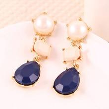 Vintage Indian Big Acrylic Earring Drop Earings Fashion Jewelry 2016 Statement Wedding Long Dangle Earrings Women Brinco E1272