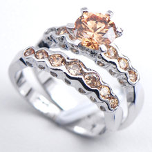 Morganite Crystal Woman 925 Sterling Silver Engagement Wedding Ring F550 Size 6 7 8 9 10 11(China)