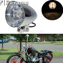 """Aluminium Motorrad 4.5 """"H4 Scheinwerfer Front Scheinwerfer Trim Ring Für Harley Cafe Racer Bobber Sportster Eisen Superlow 883 Roadster"""