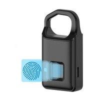 Fingerprint Padlock Quick Access Portable Smart Security Keyless Door Bag Lock USB Charging Anti theft Electronic Padlock