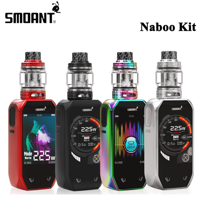 Original Smoant Naboo Kit 225W Naboo E Cigarette Box MOD and 4ml Naboo Subohm Tank 2
