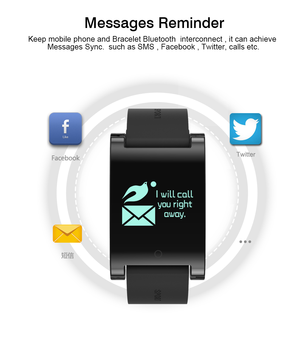 FREZEN Smart Bracelet DM68 Smart Band Fitness Sleep Activity Tracker Blood Pressure Oxygen Heart Rate Tracker For Android IOS 12