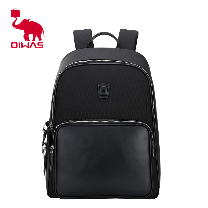 OIWAS Nylon Backpack Large Capacity Men Women Business Bag Laptop packs College Travel School Notebook Bag Black OCB4390 dy0606 ladies bag 15inch women backpack suit for 14 15 notebook laptop bag student school bag travel mountaineering bag