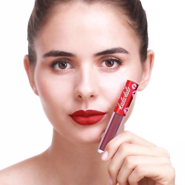 KADALADO Brand Make Up Waterproof Nude Lipstick Long Lasting Liquid Matte Lipstick Pen Lip Gloss Cosmetics Lipgloss Lip Makeup 5