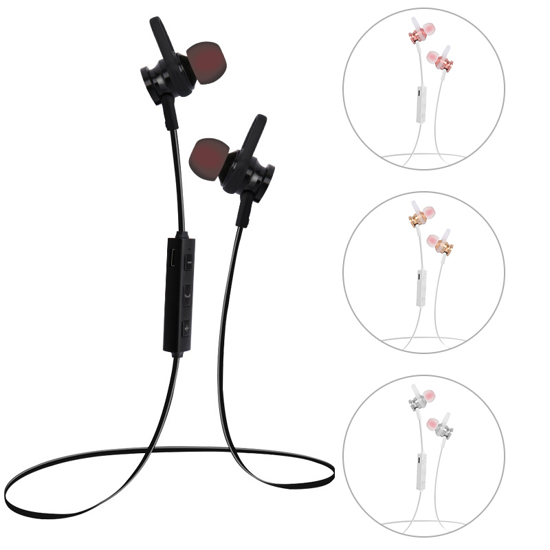 New Wireless Bluetooth Headphone Magnet Neck Hang Sweatproof Stereo Sport Earphones Headset For iPhone 7/7 Plus Huawei eals @JH