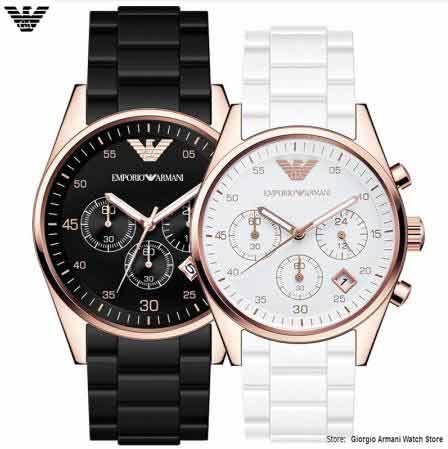 Original Giorgio Armani watch, multi-function three-eye sports men&women couple quartz watch AR5905/AR5920 quartz watch Arma multi function casual men quartz sports watch