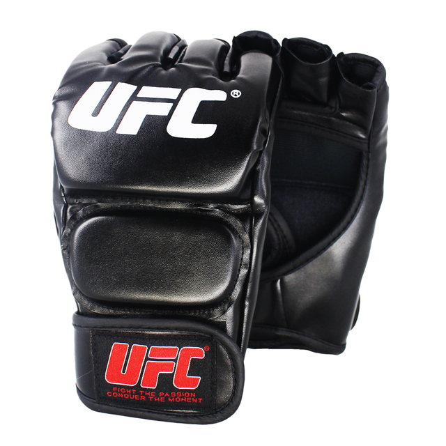 SUOTF Black Fighting MMA Boxing Sports Leather Gloves Tiger Muay Thai fight box mma gloves boxing sanda boxing glove pads mma