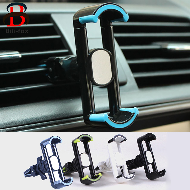 Adjustable font b Car b font Phone Holder Universal Steel Air Vent Mount 360 Rotation font