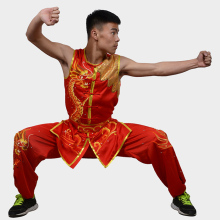 Customize Chinese wushu uniform Kungfu clothing Martial arts suit taolu/Dragon embroidery for women men children girl boy kids
